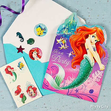 Little Mermaid Party Ideas: Invitations