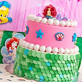 Sea sational Little Mermaid Cake How To Party City