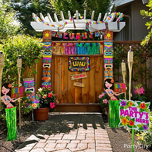 luau party decorations hawaiian decor