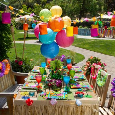 Hawaiian Luau Party Decoration Ideas