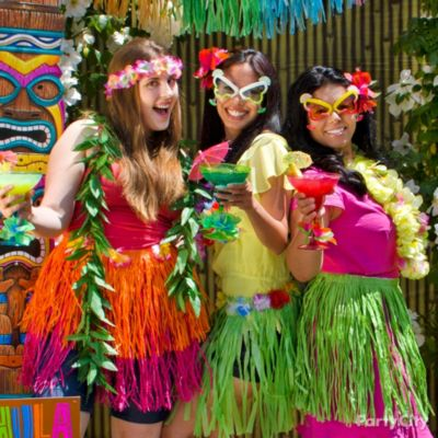 Birthday adult party luau