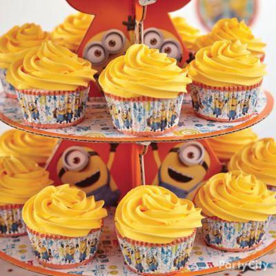 Minions Cupcake Tower How To Party City