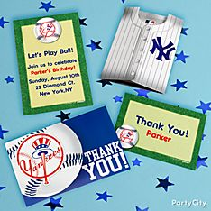 New York Yankees Party Invitation Ideas