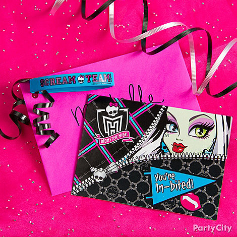 Monster High Party Ideas: Invitations