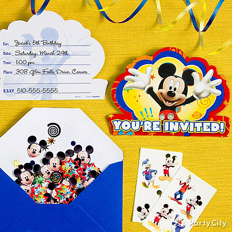 Mickey Mouse Party Ideas: Invitations