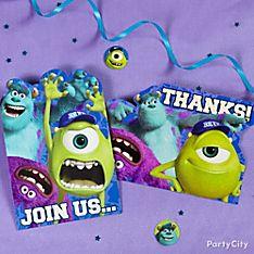 Monsters University Party Invitations Ideas