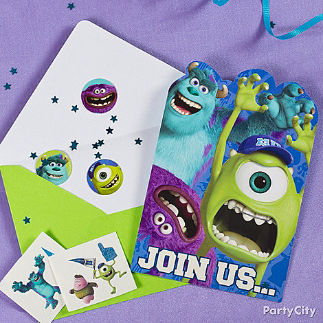 Monsters University Ideas: Invitations