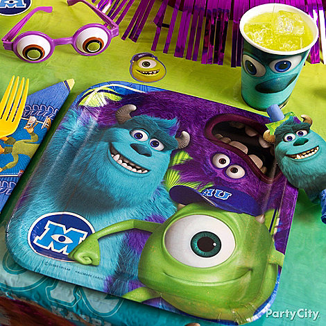 Monsters University Party Ideas: Decorations
