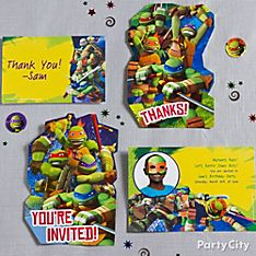 Teenage Mutant Ninja Turtles Party Invitation Ideas