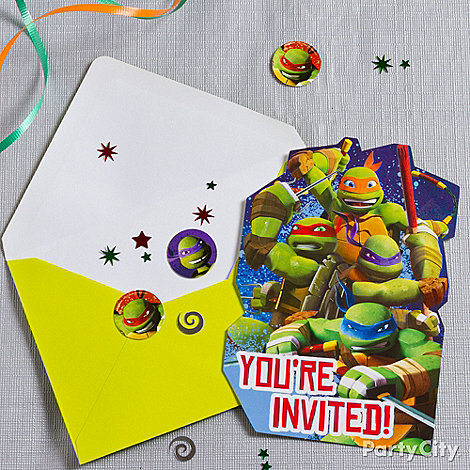 Teenage Mutant Ninja Turtles Ideas: Invitations