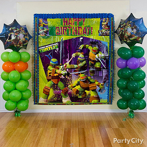 Ninja Turtle Centerpieces Party And Car