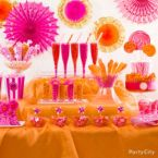 10 Gorgeous and Glam Pink & Orange Candy Buffet Ideas