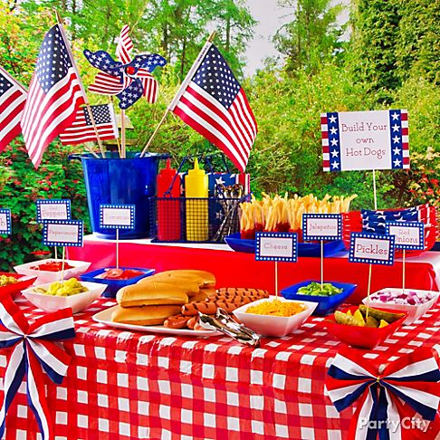 Wedding picnic party decorations ideas rachael edwards for 4th of july party decoration