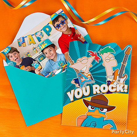 Phineas and Ferb Party Ideas: Invitations