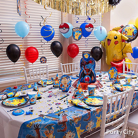 pokemon party ideas party city. Black Bedroom Furniture Sets. Home Design Ideas
