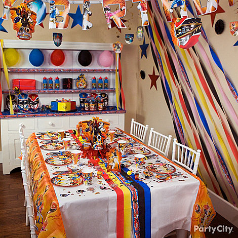 Power Rangers Party Ideas: Decorating
