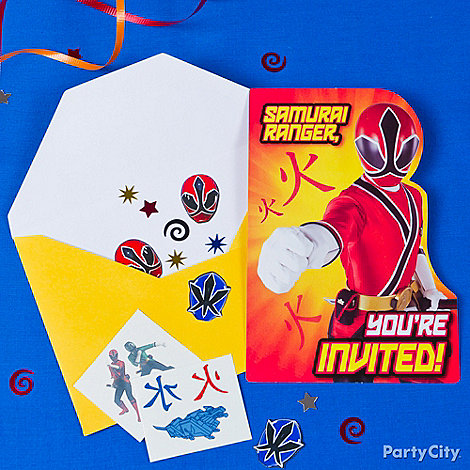 Power Rangers Party Ideas: Invitations
