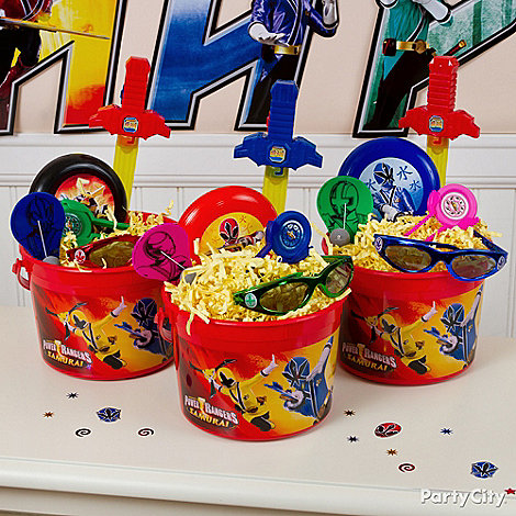 Power Rangers Party Ideas: Favors