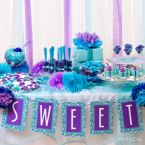 Dreamy Purple & Blue Candy Buffet Ideas