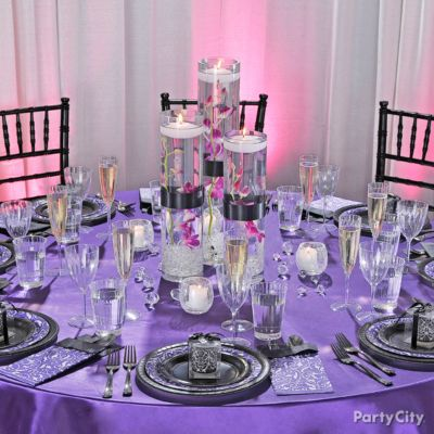 Dramatic Purple Engagement Party Decoration Ideas - Party City