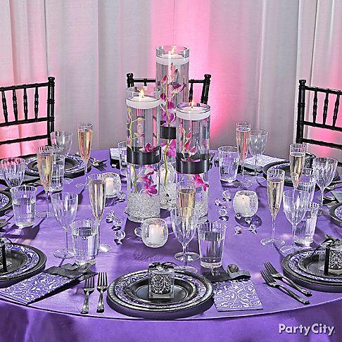 Dramatic Purple Engagement Party Decoration Ideas - Party City