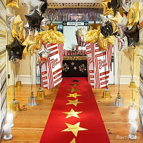Red Carpet Hollywood Theme Party