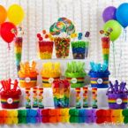 Rainbow Candy Buffet Ideas