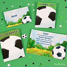 Soccer Party Invitation Ideas