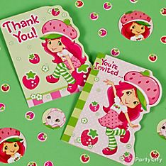 Strawberry Shortcake Party Invitation Ideas