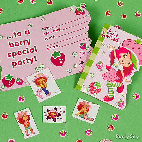 Strawberry Shortcake Party Ideas: Invitations