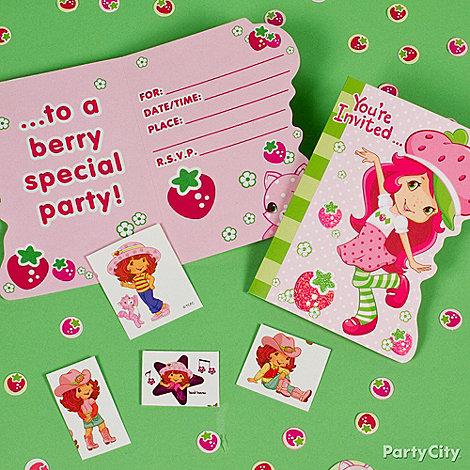 Strawberry Shortcake Party Ideas: Invitations