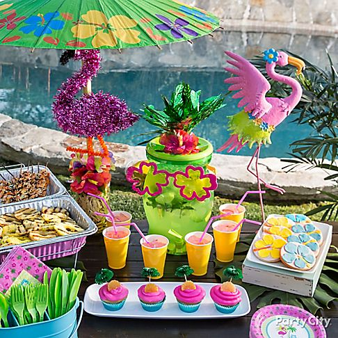 Fabulous Flamingos Summer Pool Party Ideas Party City