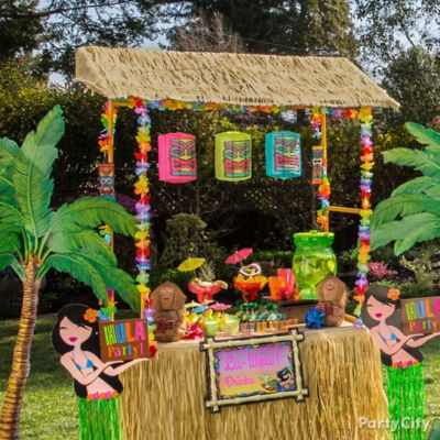 Luau Party Raffia Decorating Ideas Party City