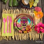 Exotic Luau Raffia Decorating Ideas