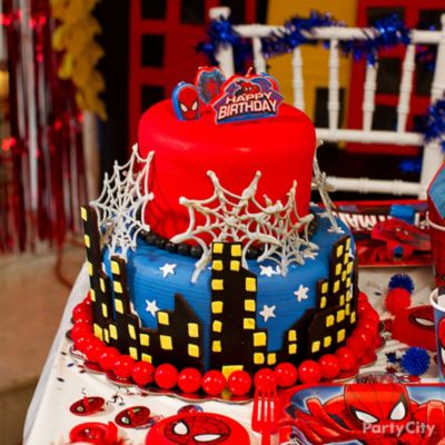 WebSlingin SpiderMan Cake HowTo Party City