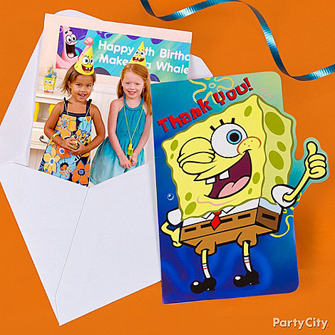 SpongeBob Party Ideas: Invitations