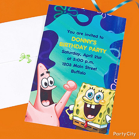 spongebob party ideas  spongebob birthday party ideas  party city, party invitations