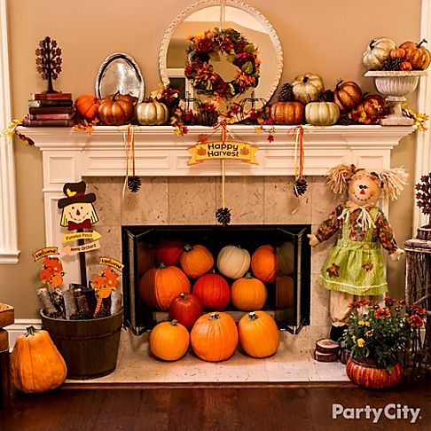 Thanksgiving Mantels and Porch Ideas Party City – Thanksgiving Mantel Decorations