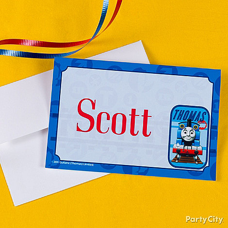 Thomas the Tank Engine Party Ideas: Invitations