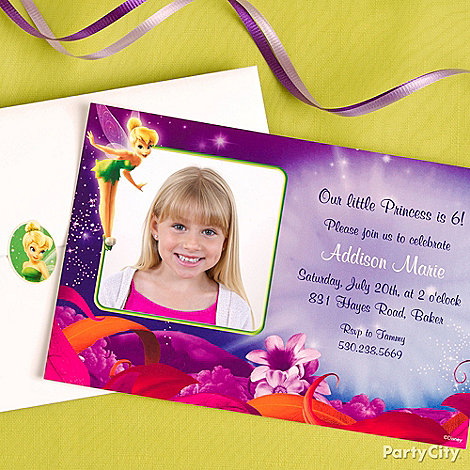 Tinker Bell Party Ideas: Invitations