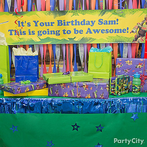 Teenage Mutant Ninja Turtles Party Ideas: Decorations