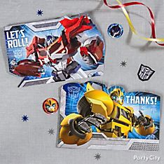 Transformers Party Invitation Ideas