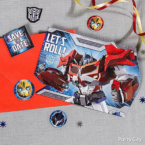 Transformers Party Ideas: Invitations