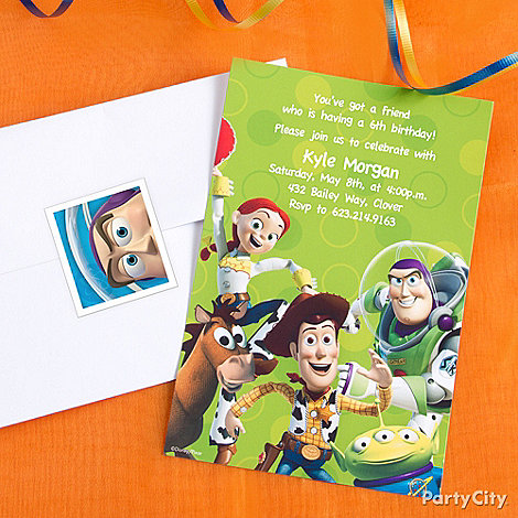 Toy Story Party Ideas: Invitations