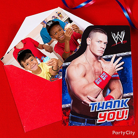 WWE Party Ideas: Invitations