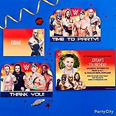 WWE Party Invitation Ideas