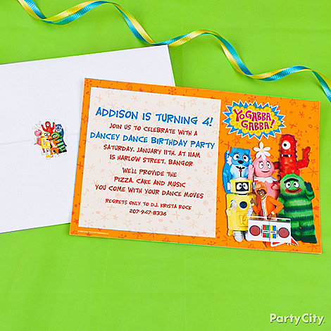 Yo Gabba Gabba Party Ideas: Invitations