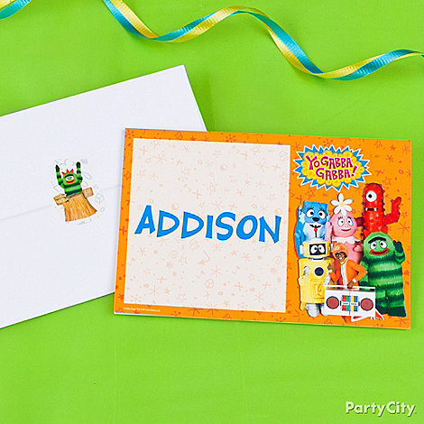 Yo Gabba Party Ideas: Invitations