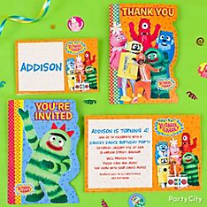 Yo Gabba Gabba Party Invitation Ideas