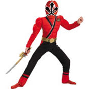 Boys Red Ranger Muscle Costume - Power Rangers Samurai